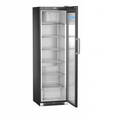 Liebherr Réfrigérateur | Acier Noir avec Porte en Verre | Liebherr | 449 Litres | FKDv 4523 | 600x696x(h)2027mm