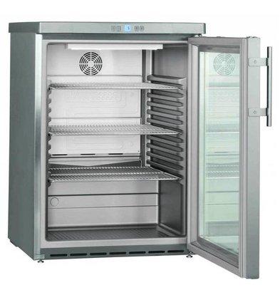 Liebherr Réfrigérateur | Modèle de Table | Inox | Dynamic | Porte en Verre | Liebherr | 141 Litres | FKUv 1663 | 600x610x(h)830mm