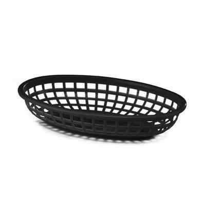 Bar Professional Panier Oval | Plastique | Noir | 230x155x(h)30mm