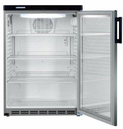 Liebherr Réfrigérateur | Modèle de Table | Inox | Dynamic | Porte en Verre | Liebherr | 180 Litres | Fkvesf 1803 | 600x600x(h)853mm