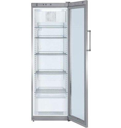 Liebherr Réfrigérateur | Gris Acier | Dynamic | Porte en verre | Liebherr | 388 Litres | FKvsl 4113 | 600x610x(h)1800mm