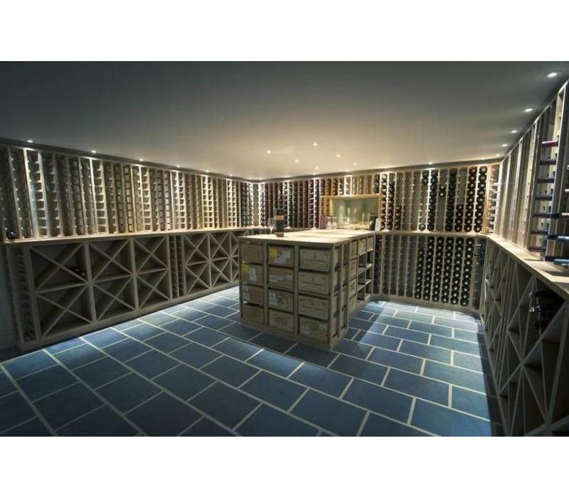 Bar Professional Cave à Vin | En Bois de Chêne | 1070x320x(h)1100mm