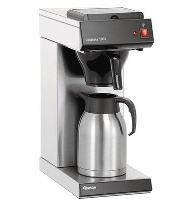 Bartscher Machine à Café Contessa 1002 | Inox | 2 Litres | 215x390x520(h)mm