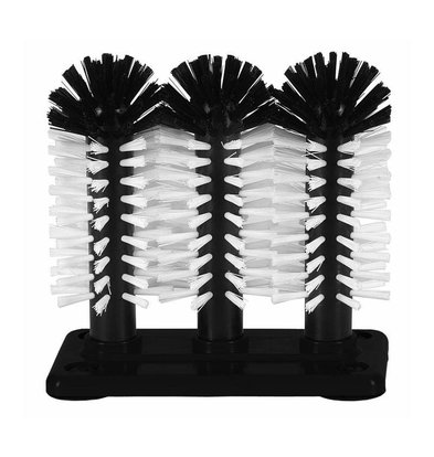 Bar Professional Brosse de Rinçage | Plastique | 3 Brosses | 3x180mm