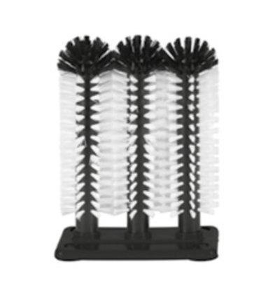 Bar Professional Brosse de Rinçage | Pied en Plastique | 3 Brosses | 3x250mm