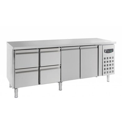 Combisteel Comptoir Réfrigéré | 2 Portes et 4 Tiroirs | 553 Litres | 2230x700x(H)850mm