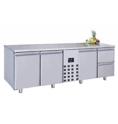 Combisteel Comptoir Réfrigéré | Pro Line | 3 Portes et 2 Tiroirs | 632 Litres | 2270x700x(H)850mm