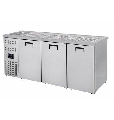 Combisteel Refroidisseur de Bière | 3 Portes | Evier à Gauche (300x500mm) | 2100x700x(H)960mm