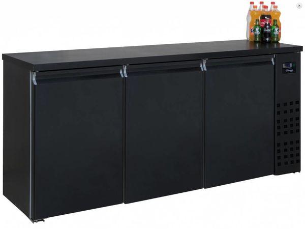 Combisteel Réfrigérateur de Bar   Noir   3 Portes   500 Litres   1940x550x(H)950mm