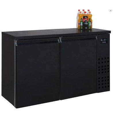 Combisteel Réfrigérateur de Bar | Noir | 2 Portes | 320 Litres | 1380x550x(H)950mm