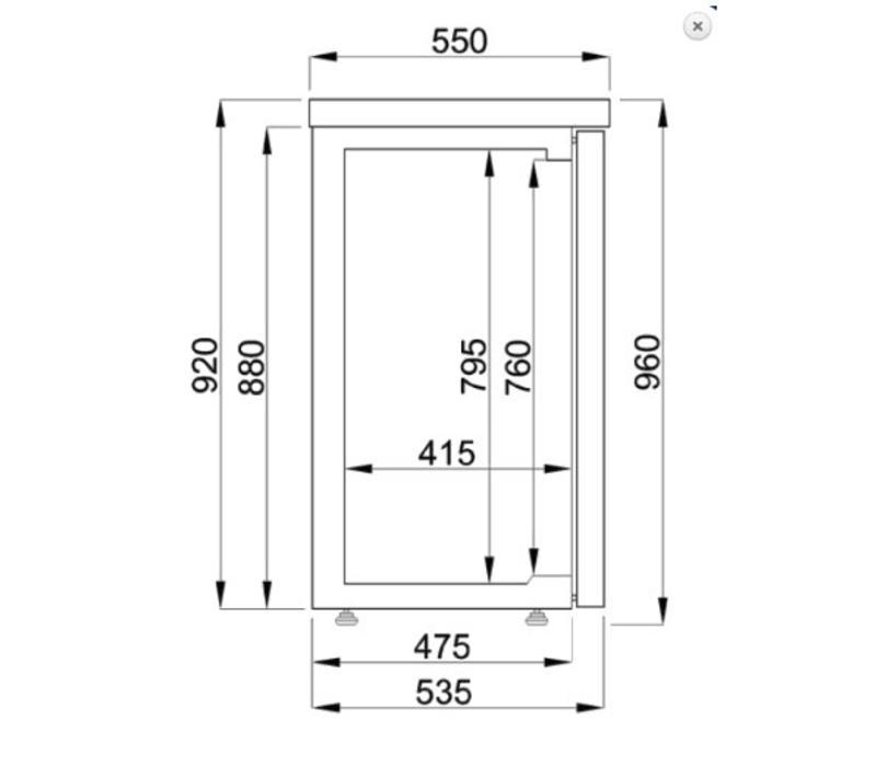 Combisteel Réfrigérateur de Bar   Noir   2 Portes   320 Litres   1380x550x(H)950mm