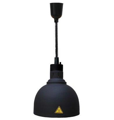 Combisteel Lampe Chauffante | Chefs Heat-04 | Noir | Cordon Réglable | Ø240x(H)600/1800mm