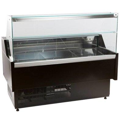 Combisteel Comptoir Vitrine Réfrigérée Morris | +1/ +10°C | avec Eclairage | Disponible en 4 Tailles