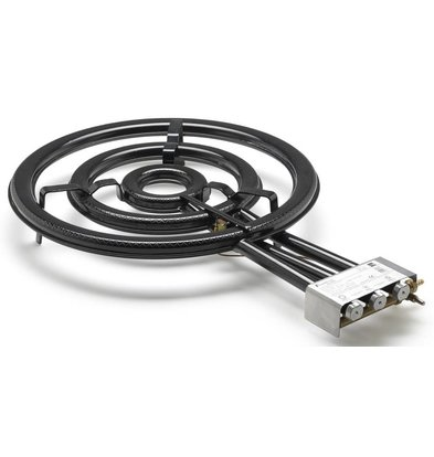 CHRselect Paella Burner TT-600 | Modèle de Table Butane / Propane 3 Flammes 19,9 kW
