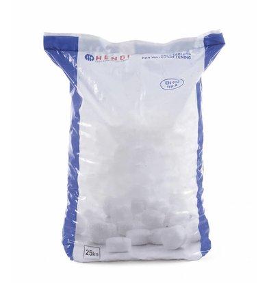 Hendi Tablettes de Sel pour Adoucisseurs d'Eau | 25Kg