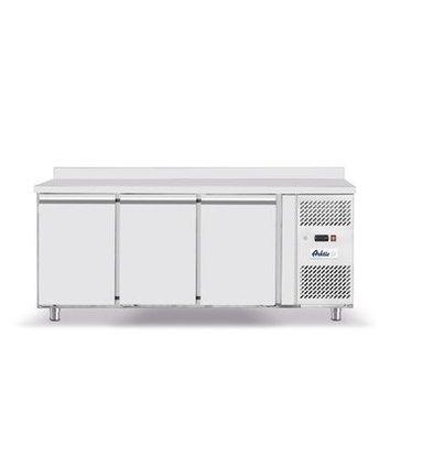 Hendi Comptoir Congelé | Inox | 3 Portes | avec Rebords | 1795x700x(H)850mm