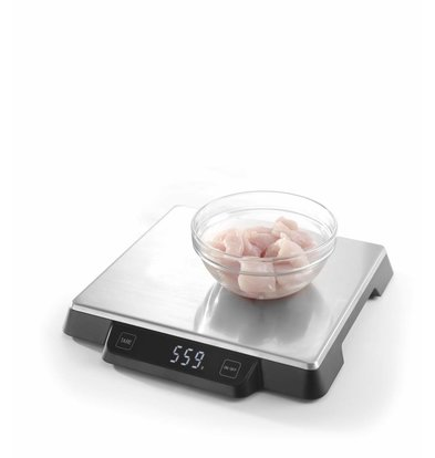 Hendi Balance de Cuisine | 15 kg | Minimum 2g | 266x269x(H)34mm