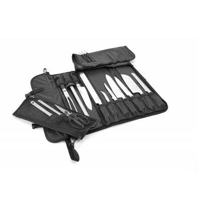 Hendi Malette à Couteau | Espace pour 10 Couteaux | Avec bandoulière | 510x170x (T) 50