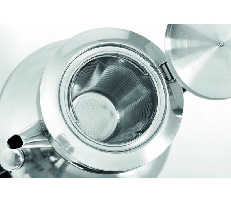 Bartscher Samovar Inox | 3 Litres | 1,5kW | 305x210x(h)490mm | Inclus 1 Théière et 1 Passoire