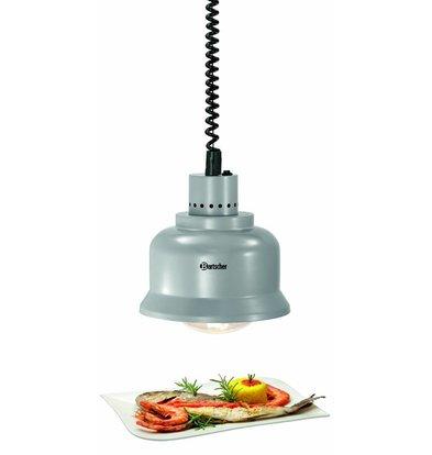 Bartscher Lampe Chauffante Flexible | Chaleur Infrarouge | 0,25 kW | Cable 650-1600mm | 240x240x(H)265mm | Disponible en 4 Couleurs