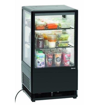Bartscher Mini Vitrine Réfrigérée | Noir | 58 Litres | 0,18 kW | 435x385x(H)805mm