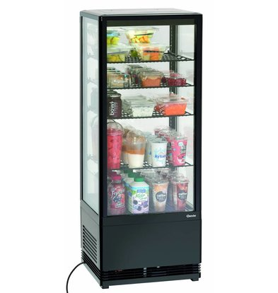 Bartscher Mini Vitrine Réfrigérée | Noir | 98 Litres | 0,18 kW | 435x385x(H)1105mm