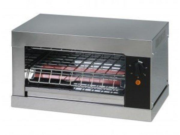 Saro Toaster Simple | avec 1 Pince | Minuterie | Plateau Récupérateur de Miettes | 2000 W | 440x260x(h)250mm