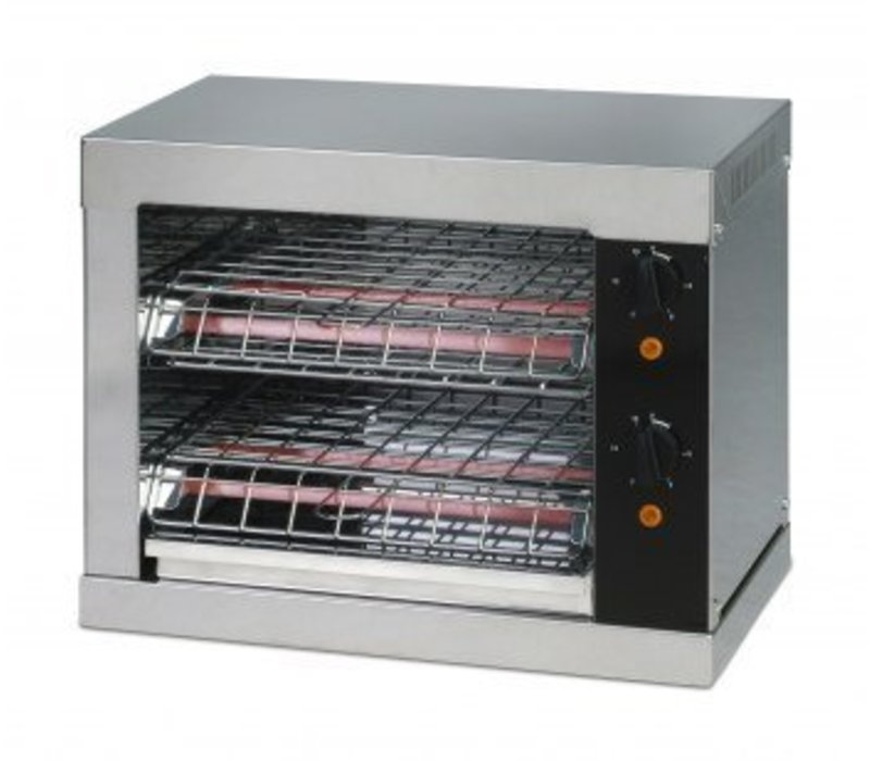 Saro Toaster Double | avec 2 Pinces | Minuterie | Plateau Récupérateur de Miettes | 3000 W | 440x260x(h)380mm