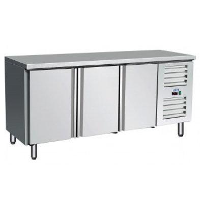 Saro Comptoir Réfrigéré | 3 Portes à Fermeture Automatique | Inox | 1795x700x(h)890mm