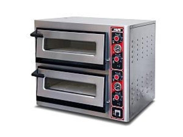 Saro Four à Pizza   Electrique   Double   2x 6 Pizza max Ø30cm   400V   12kW   895x1010x(h)735mm
