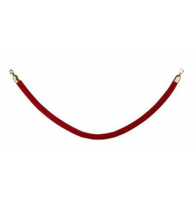 Saro Cordon pour File d'Attente | Velours | Rouge Bordeau |1,5 M | Crochets Dorés
