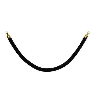Saro Cordon pour File d'Attente | Velours | Noir |1,5 M | Crochets Dorés