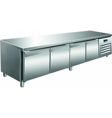 Saro Comptoir Réfrigéré Ventilé | 4 Portes | 420L | 2230x700x650(h)mm