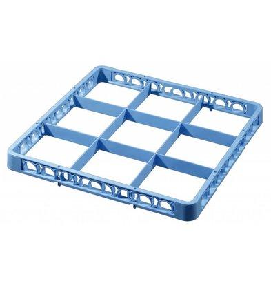 Bartscher Séparateur pour Panier |9 Compartiments | Bleu | 500x500x(h)45mm