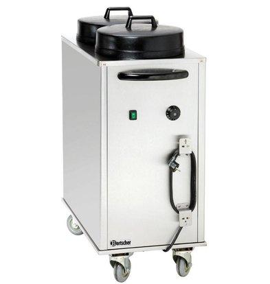 Bartscher Chauffe-Assiettes |Avec Chariot | Electrique Chauffant |2 kW | 435x820x (h)1025mm