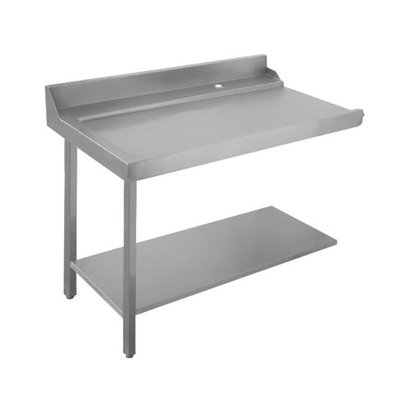 Bartscher Table Gliss| À Gauche | Inox 18/10 | 1200X720X(h)850mm