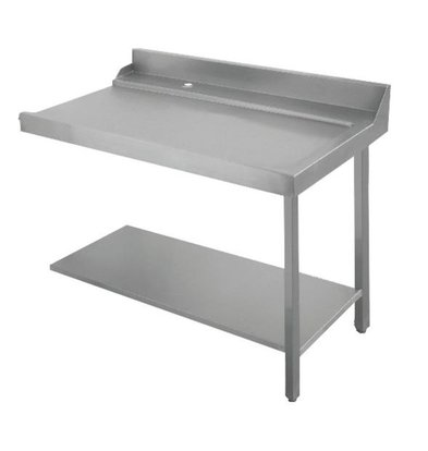 Bartscher Table Gliss| À Droite | Inox 18/10 | 1200X720X(h)850mm