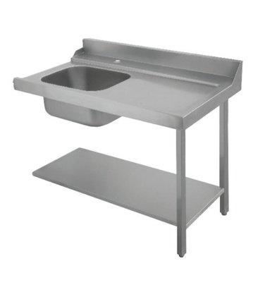 Bartscher Table de Tri | Avec Evier|  À Gauche | Inox 18/10 | 1200X720X(h)850mm