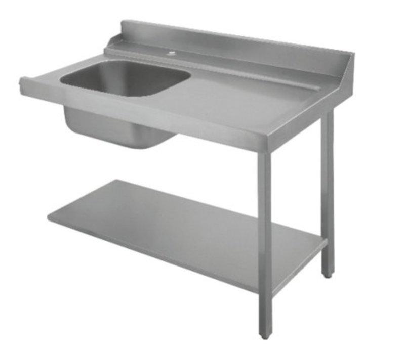 Bartscher Table De Tri Avec Evier A Gauche Inox 18 10 1200x720x H 850mm