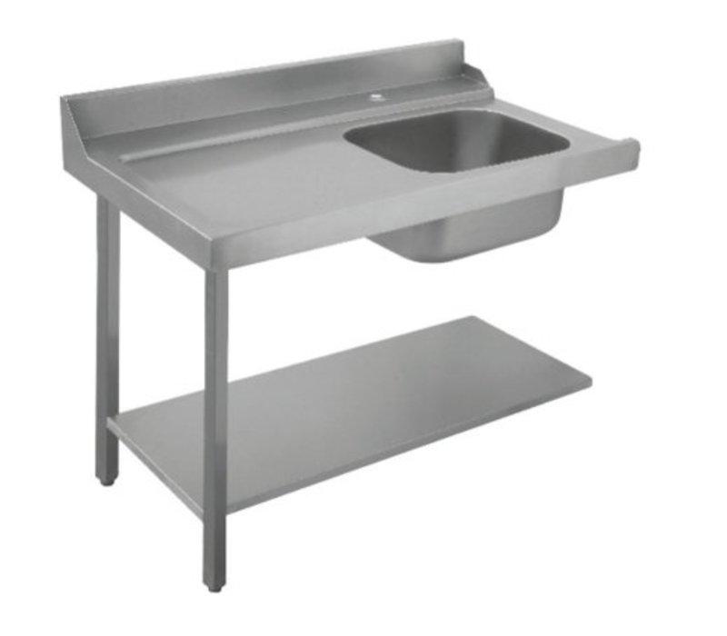 Bartscher Table De Tri Avec Evier A Droite Inox 18 10 1200x720x H 850mm