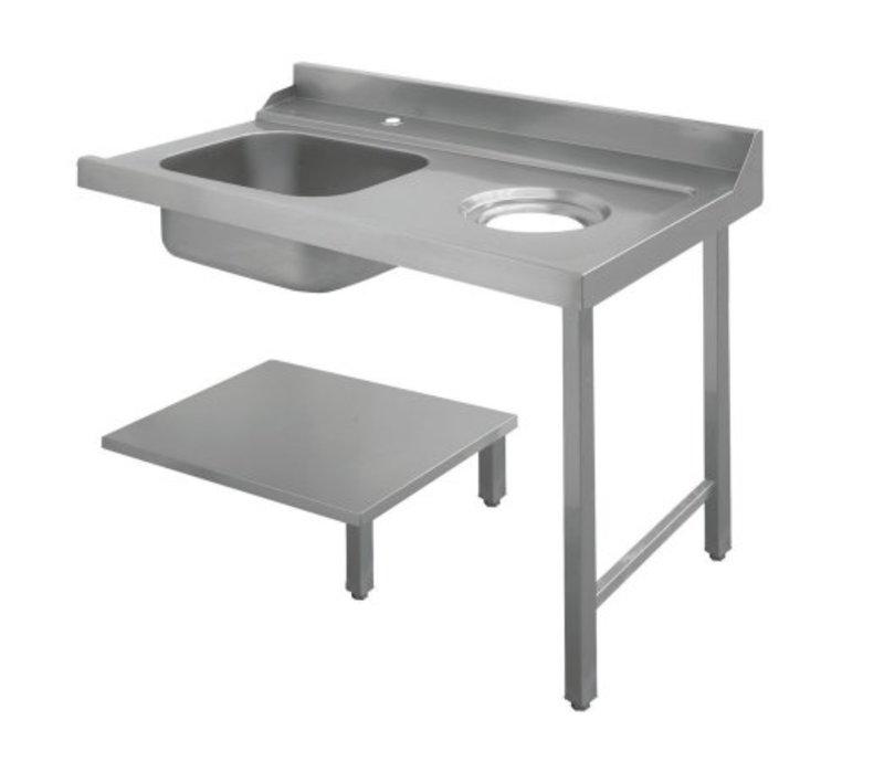 Bartscher Table De Tri Avec Evier A Gauche Avec Orifice Pour Les Dechets Inox 18 10 1200x720x H 850mm