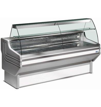 Diamond Comptoir Vitrine Réfrigérée | Vitre Bombée | Ventilé | Plan de Travail en Granit | 0° / 2° | 1500x1060x(h)1205mm