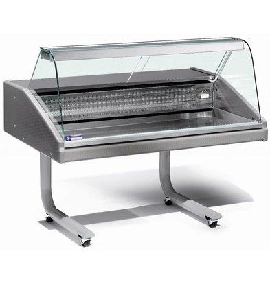 Diamond Comptoir Vitrine Réfrigéré | Plan de Travail en Inox | Idéal Poissonnerie | 0° / 2° | 1500x980x(h)1280mm