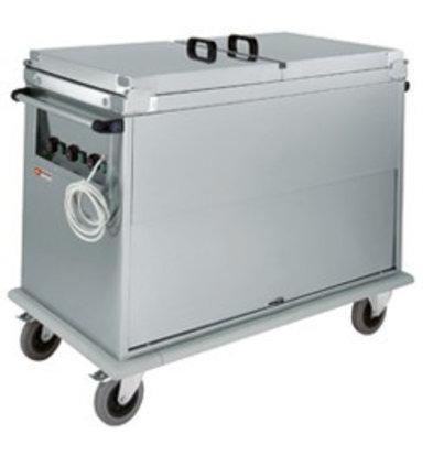 Diamond Chariot Bain-Marie   2x GN 1/1   Porte Basculante   1,2 kW   950x720x(h)960mm