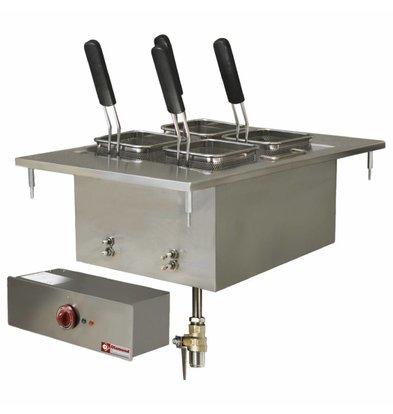 Diamond Cuiseur à Pâtes Electrique   Inox   à Encastrer   20 Litres   400V/6kW   400x600mm