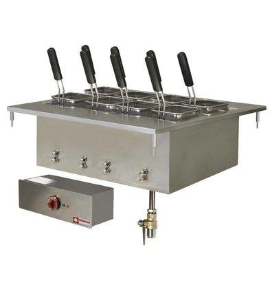 Diamond Cuiseur à Pâtes Electrique   Inox   à Encastrer   40 Litres   400V/9kW   700x600mm