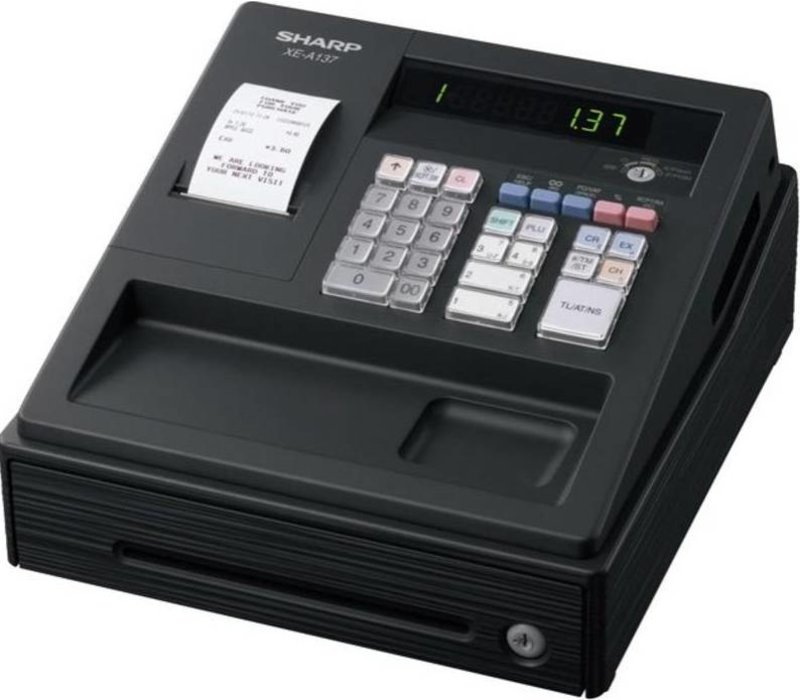 Sharp Sharp desk XE-A137BK | Imprimante Thermique (PAS D'ENCRE) | 200 Produits | 8 Groupes de produits