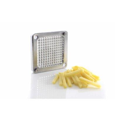 coupe frites Montage mural ou sur /étag/ère Fraise /à frites avec 4 lames coupe-frites Fritte pour usage commercial en acier inoxydable