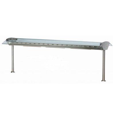 Combisteel Pont en Verre | Avec Éclairage | 230 V | 1370X310X(h)120/520mm | Disponible en Plusieurs Tailles