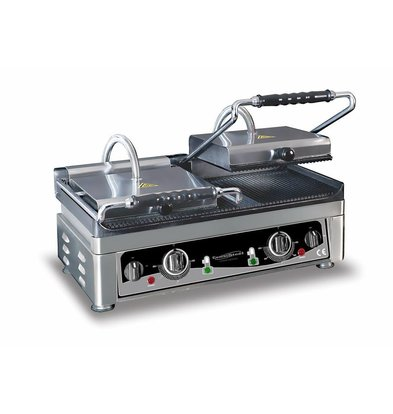 Combisteel Grill de Contact Double | Rainuré | 230V/3,5kW - 560x440x300(h)mm